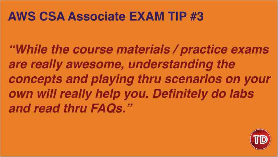 AWS Certified Solutions Architect Associate Exam Tip 2