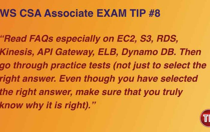 AWS Certified Solutions Architect Associate Exam Tips