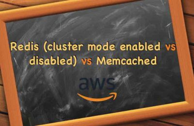 Redis cluster mode enabled vs disabled vs Memcached